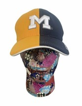 Michigan Wolverines Split Color Baseball Hat Team Spirit Brand NCAA Football  - $20.36