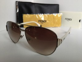 New FENDI FF 0018/S 7SGQH 60mm Silver White Designer Women's Sunglasses - $149.99