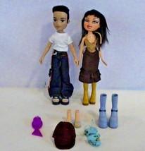 MGA 2002 Cameron & 2001 Meygan Bratz Dolls with Extra Accessories - $19.57