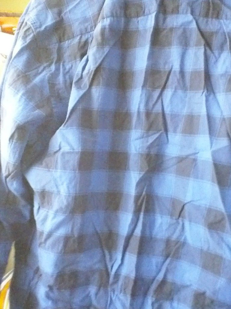 Lot of 4 Banana republic plaid shirts CHAPS 1 Izod LARGE BLUE RED