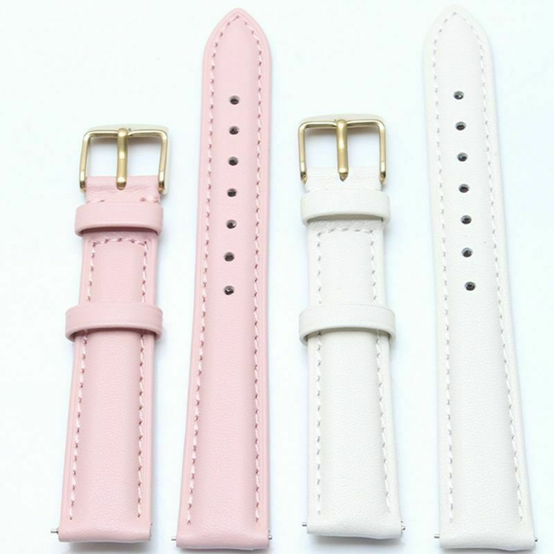 Primary image for Leather Watch Band 18mm 20mm 22mm Pale Colors Quick Release Leather Wrist Strap