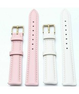 Leather Watch Band 18mm 20mm 22mm Pale Colors Quick Release Leather Wris... - $19.86+