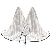 Polyte Professional Microfiber Wine Glass Fine Polishing Cloth 18x28, 2 Pack, Wh