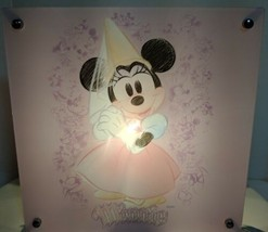 "Disney Minnie Mouse 2 Sided Acrylic Lamp 11""x 11""x 4"" On/Off Switch in C... - $19.49"