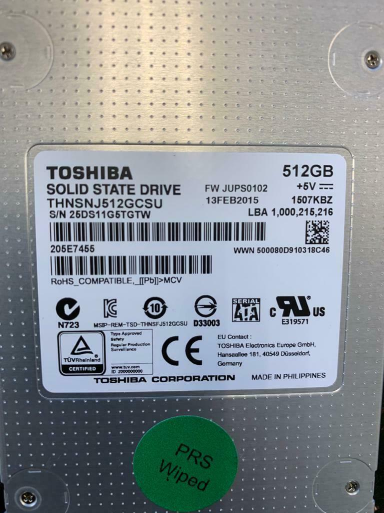 Primary image for Toshiba THNSNJ512GCSU solid state drive - 512 GB - SATA 6Gb/s Specs