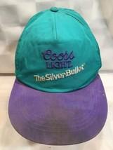 COORS LIGHT Silver Bullet Vintage Teal Purple Beer Snapback Adult Cap Hat - $19.79