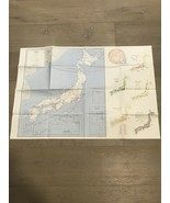 VTG Original 1972 US ARMY Corps Of Engineers Map of Japan 1:3.5MM Scale ... - $30.00