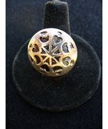 SS Ring with Hearts and Moons on Round Disk - $18.00