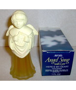 Vintage Avon Angel Song Lyre Here's My Heart Cologne 1OZ - $5.85