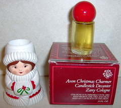 Avon 1981 Christmas Charmer Candlestick Zany Cologne - $5.85