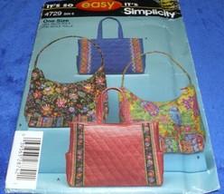 It's so Easy Simplicity HANDBAGS TOTES Bags pattern Guaranteed all parts Free US - $9.99