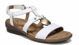 NaturalSoul by Naturalizer Brenda White Women Sandals 6 6.5 7 8 9.5 NEW $79 - £22.91 GBP