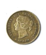 1898 Canada 5c Five Cents Rare Low Mintage KM# 2 Half Dime VF+ Low Mintage - $129.95 CAD