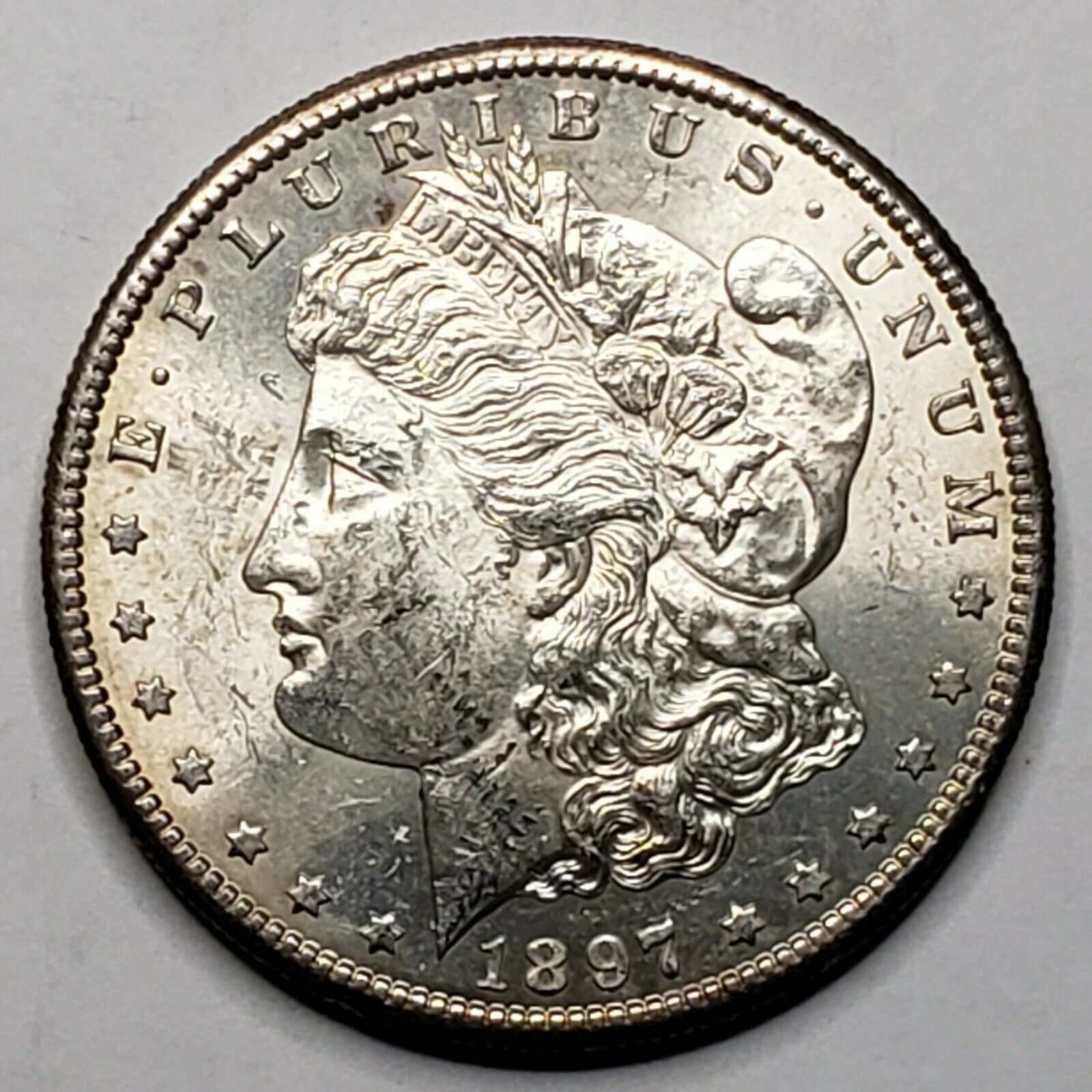 1897S MORGAN SILVER $1 DOLLAR Coin Lot# 519-38