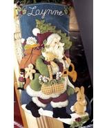 Woodland Santa Gifts Teddy Bear Christmas Felt Stocking Kit Bucilla 85179 E - $74.95