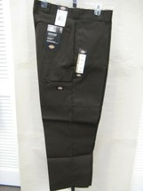 New Dickies Men's  Double Knee Work Pant Dark Brown Loose Fit Style# 85283DB - $27.99