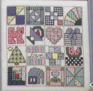 Patchwork Memories Cross Stitch by Caron Turk and Lynn Busa Graph It Arts