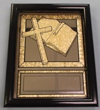 """bible and cross religion award framed mirror 7 1/4"""" x 9 1/4"""" overall - $23.21"""