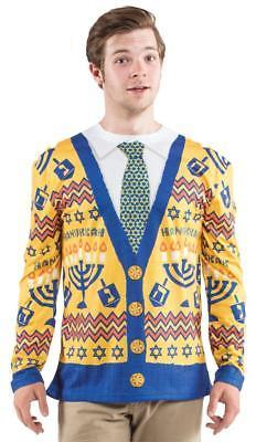 Ugly Hanukkah Sweater Mens Adult Costume Halloween Party FR122019