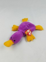 Ty Beanie Baby Patti the Platypus collectible retired purple - $7.92