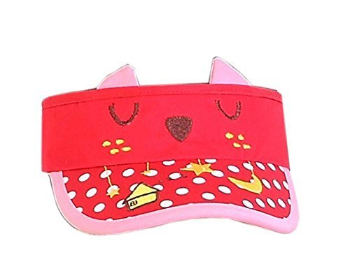 Children Sun Protection Hat Kittens Models Cap Without Top 2-4 Years(Red)