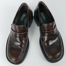 Bass Mens Penny Loafers Size 9.5M Brown Slip On Loafers Made in Italy - $69.30