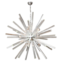 Murano glass clear Triedri Sputnik chandelier - $2,300.00