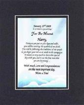 Personalized Poem for Bar Mitzvah - Indeed A Special Day, Your Bar Mitzv... - $22.72