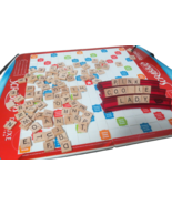 Scrabble Deluxe Edition Travel Case Rotating Turntable Board Game Complete - $21.73