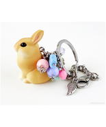 Rabbit Figurine Keychain, Kawaii, Fairy Kei - $27.00