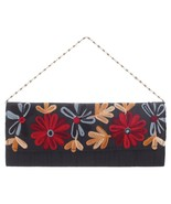 Handmade Womens Blue Floral Clutch Purse Evening bag - $29.69