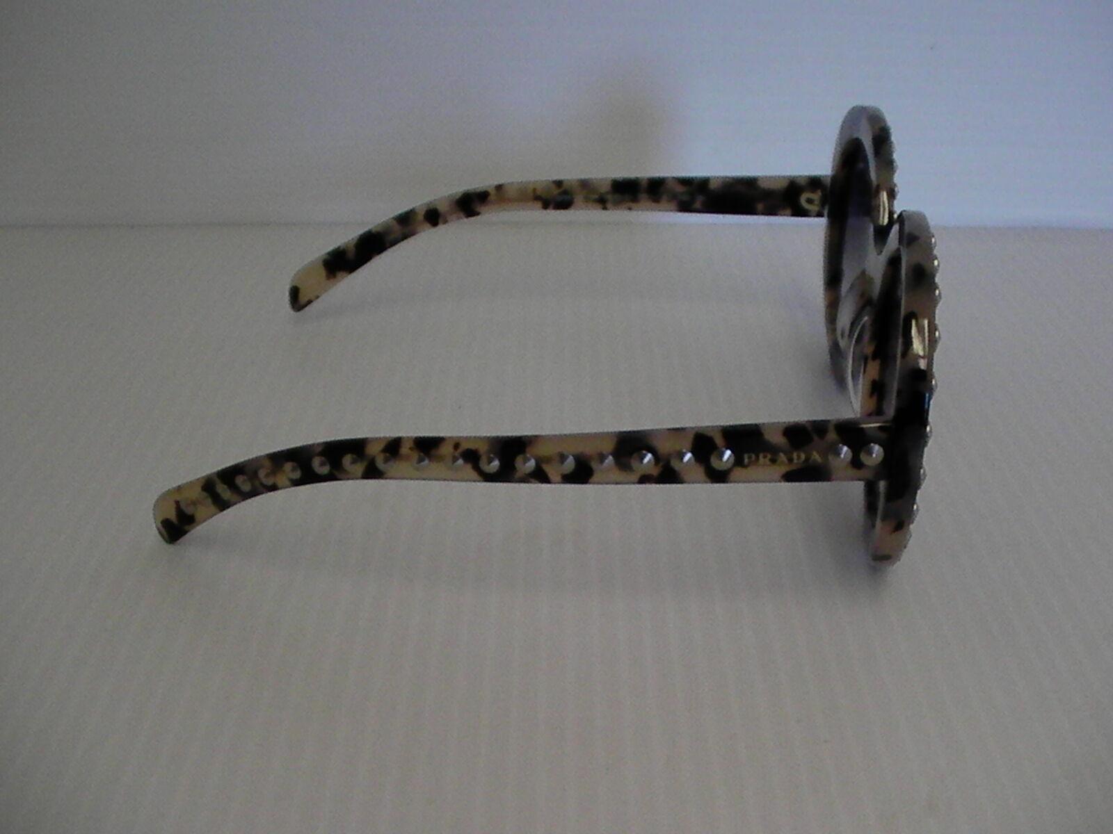 Damen Prada Neue Sonnenbrillen Schwarz Beige mit Nieten Besetzt Barock Spr29qsk image 5