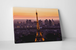"""Paris Eiffel Tower Lights Gallery Wrapped Canvas Wall Art 30""""x20"""" or 20""""x16"""" - $44.50+"""