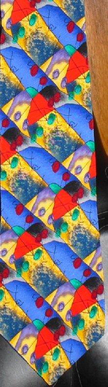 Jimmy Z JOE THEISMANN Silk Colorful Neck Tie