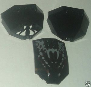 LEGO Parts 3 black Windscreen, 2-dec / 2- Octagonal 1/2