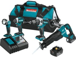 Makita Drill Impact Driver Saw Worklight Combo Kit 18-Volt Lithium-Ion (... - $524.19