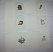 Greeting Cards Babies Kids Victorian Style Menu Card Name Places 30 pcs - $30.96