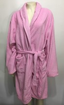 Hotel Spa Collection Pink Honey Comb Jacquard Bathrobe ONE Size NEW Knee... - $33.81