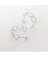 Fine Eternity Hoops Earrings - 925 Sterling Silver Circle Earrings. - $46.00