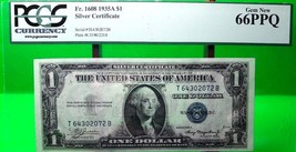 MONEY US $1 1935 A SILVER CERTIFICATE PMG  GEM UNC FR#1608  VALUE $140 - $126.00