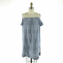 S - Cloth & Stone Anthropologie Blue & White Striped Off-Shoulder Dress ... - $45.00