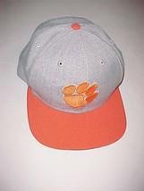 Clemson Tigers Football Logo NCAA ACC Adult Unisex Gray Orange Cap One Size New - $22.76