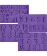 Letters Numbers Silicone Fondant Gum Paste Mold Cake Decoration Wilton - $39.59