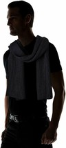Calvin Klein Men's Chunky Wave Scarf Crow Black One Size - $19.31