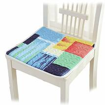PANDA SUPERSTORE 4Pcs Dining Chair Pads with Ties Soft Cotton Seat Cushions for