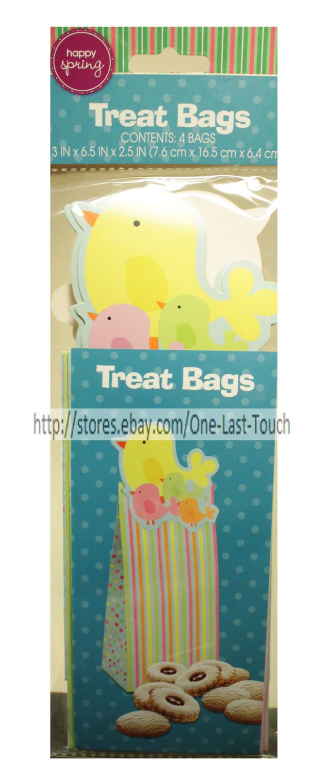 *HAPPY SPRING 4pc Set TREAT BAGS Party Favors EASTER Decoration *YOU CHOOSE*