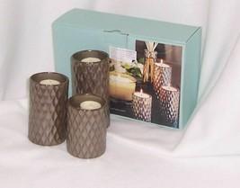 PartyLite Signature Elevated Tealight Trio Metalic Finish Ceramic P99002 - $12.82