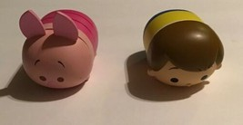 "Winnie the Pooh Tsum Tsums Christopher Robin Piglet Figure Disney Store 3"" Lot - $19.79"
