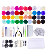 Needle Felting Kit Wool Roving 40 Colors Set Starter Tool Kit Wool Felt ... - $39.99