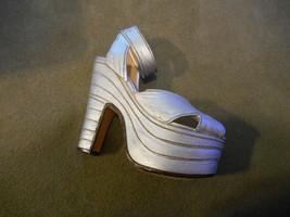 1998 Platform High Heel Sandal Silver Cloud Raine Just the right shoe Fi... - $9.99